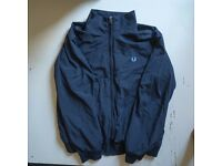 Fred Perry Brentham Jacket Size M - Navy Blue