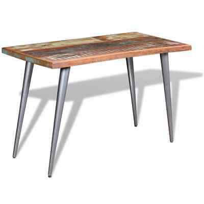 Dining Table Solid Reclaimed Wood Breakfast Kitchen Dining Room Desk Furniture