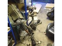Audi A6 4.2 V8 Quattro front suspension struts pair with hubs and drive shafts