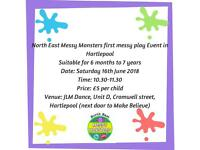 Messy Monsters messy play event