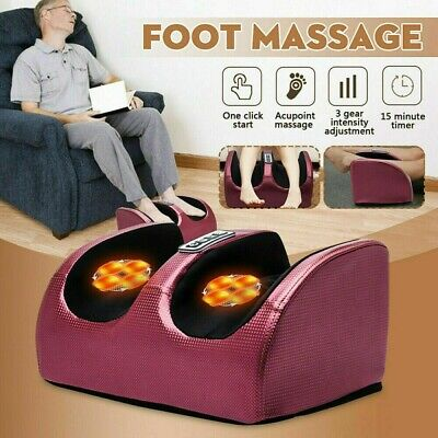 Shiatsu Electric Foot Calf Massager Massage Machine Ankle Leg Kneading Heating