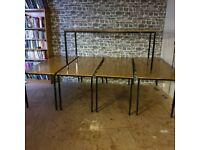5x Metal Frame Tables. £15 each
