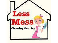 LESS MESS DOMESTIC , OFFICE CLEANING, END OF TENANCY