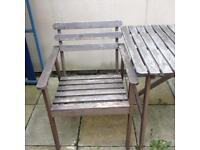 Ikea Garden Table and 2 Chairs