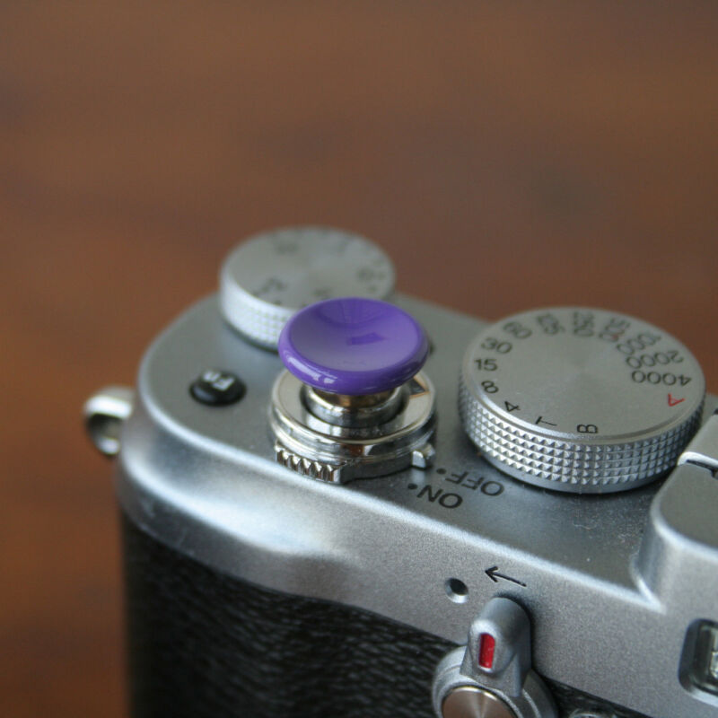 Purple Medium Concave Soft Release Button for Leica M3 MP M8 M9 X100 Nikon Canon