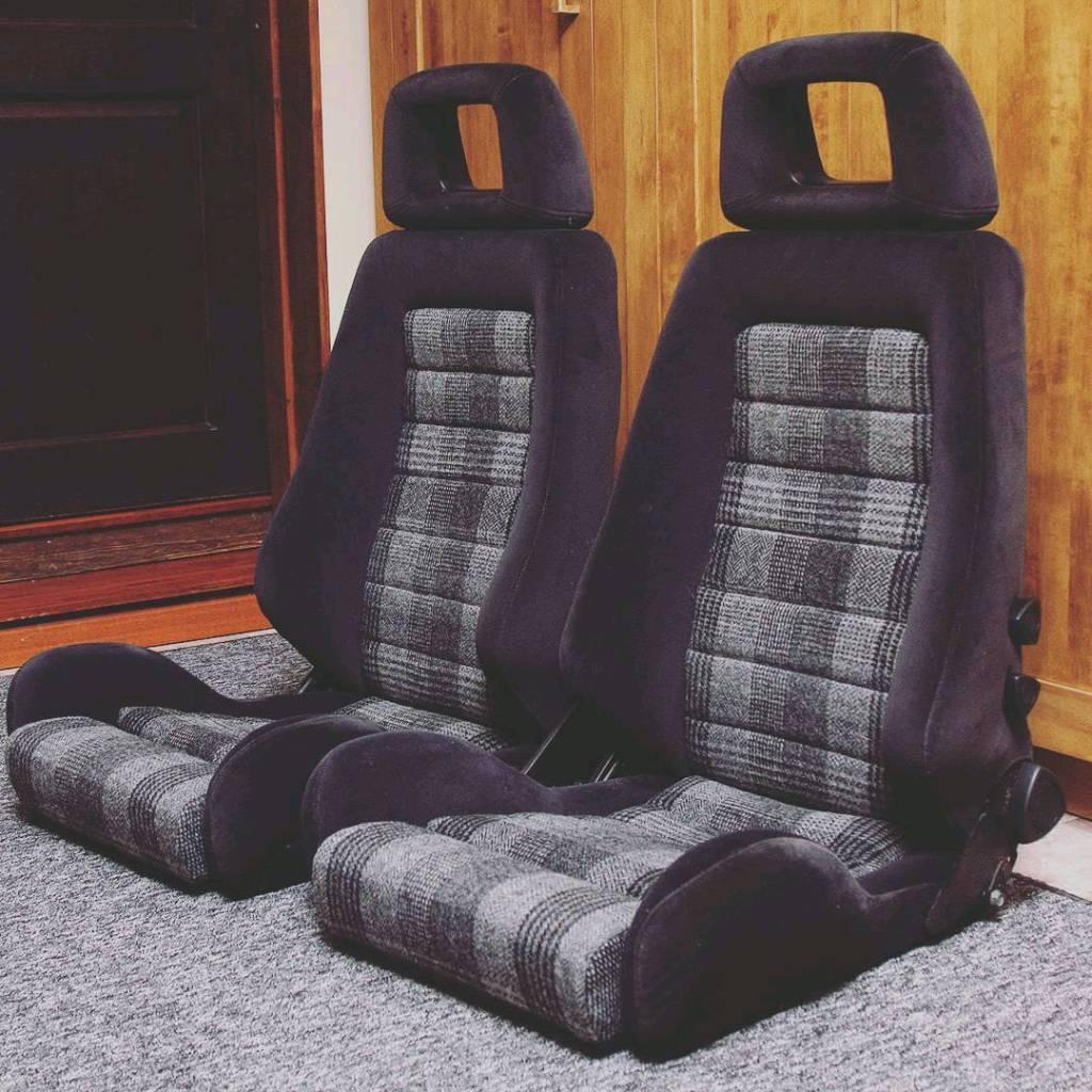 Retrimmed Tweed Recaro Bucket Seats
