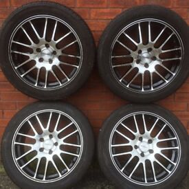 Ford Focus / Transit Connect 5 stud Alloy Wheels 17 inch Rims Black / Polished Alloys 5x108 Mondeo