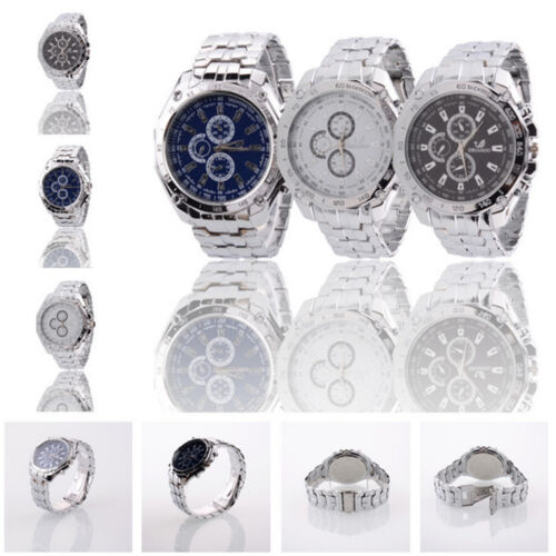 $4.87 -  Men's Stainless Steel Quartz Analog Wrist Watch Sport Watches Gifts Luxury