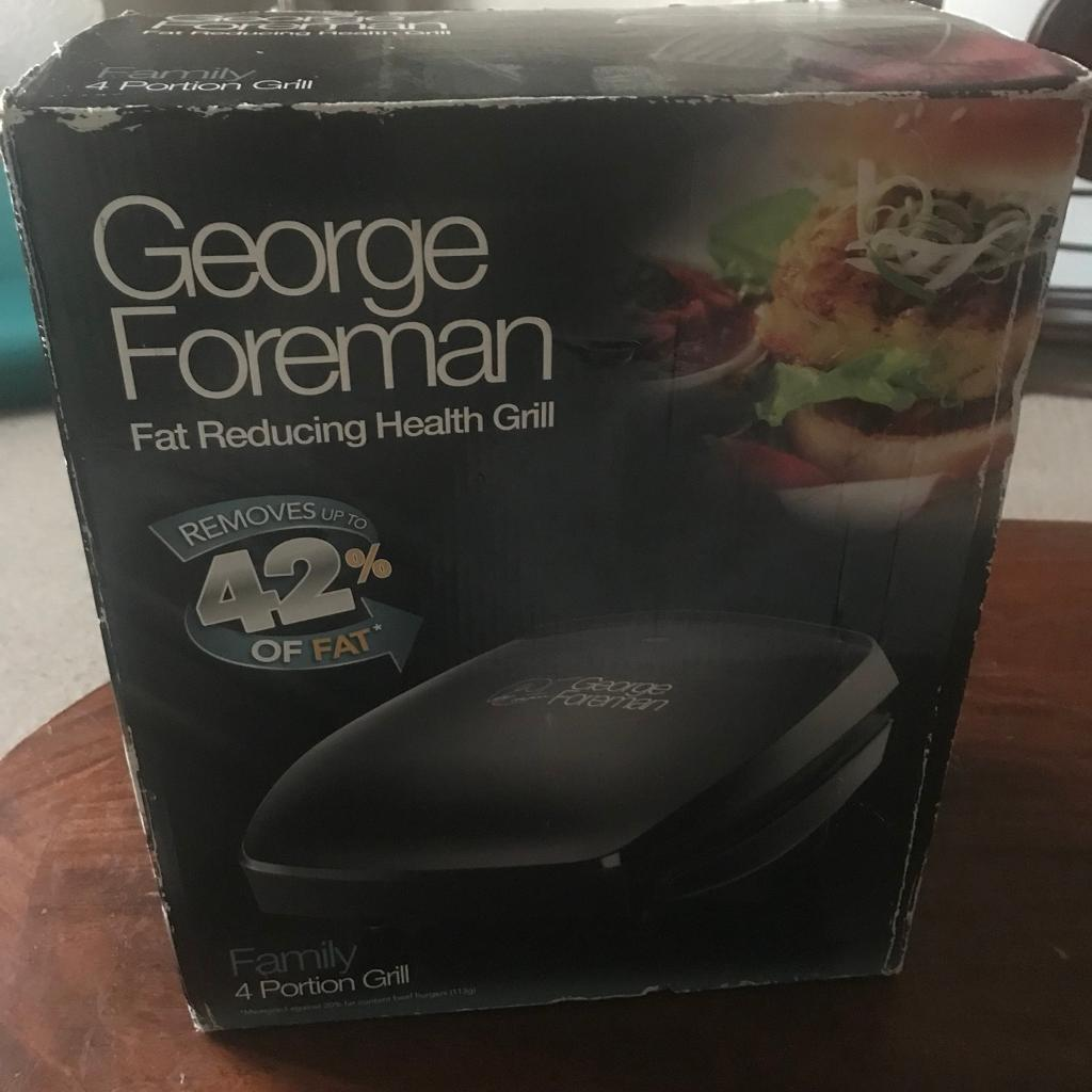 George foreman Fat reducing Grill NEW