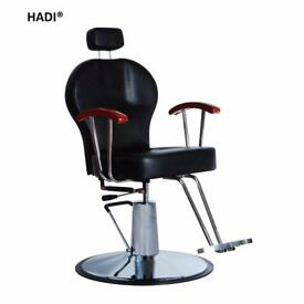NEW BLACK HADI® BARBER CHAIR BC-25,CASH ON COLLECTION ONLY new uk