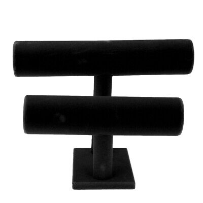T-bar Rack Bangle Watch Bracelet Holder Stand --- Jewelry Display - Black