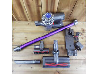 Dyson DC59 Handheld Cordless Vacuum Cleaner *Read* Charger Heads Crevice Wall Mount