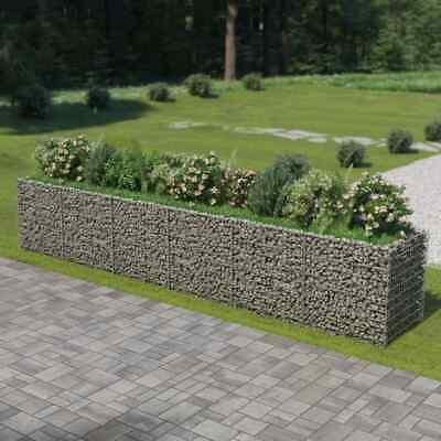 vidaXL Gabion Raised Bed Galvanised Steel 540x90x100cm Stone Basket Raised Bed