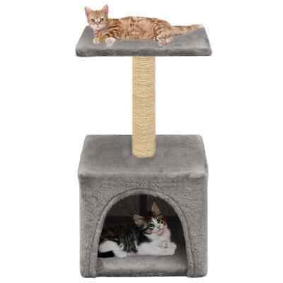 vidaXL Rascador para Gatos con Poste de Sisal 55cm Gris Accesorios Mascotas