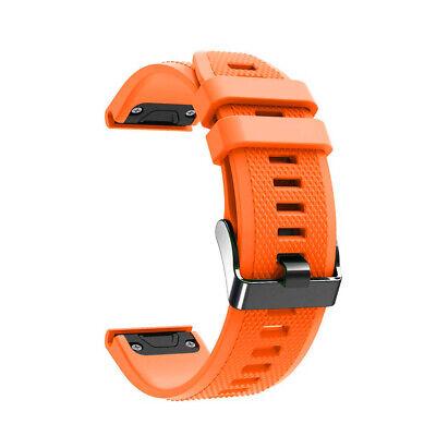Laufbursche Zubehör Ersatz Armband für Garmin Fenix 6 Silikon orange