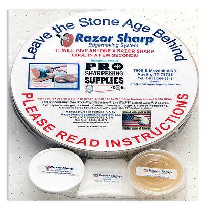 "Razor Sharp Edgemaking-Paper Wheels Sharpening System-8"" Wheels for 6"" Grinders"