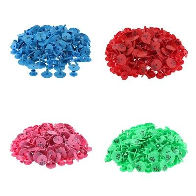 4-color 400pcs Small Pre Numbered Livestock Ear Tags For Pig Cow Goat Sheep.