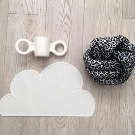 Coco cushion in Snow Leopard size Medium New