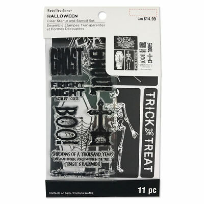 RECOLLECTIONS Halloween SPIDER WEB Stamp & Screen Stencil set ](Halloween Spider Stencil)