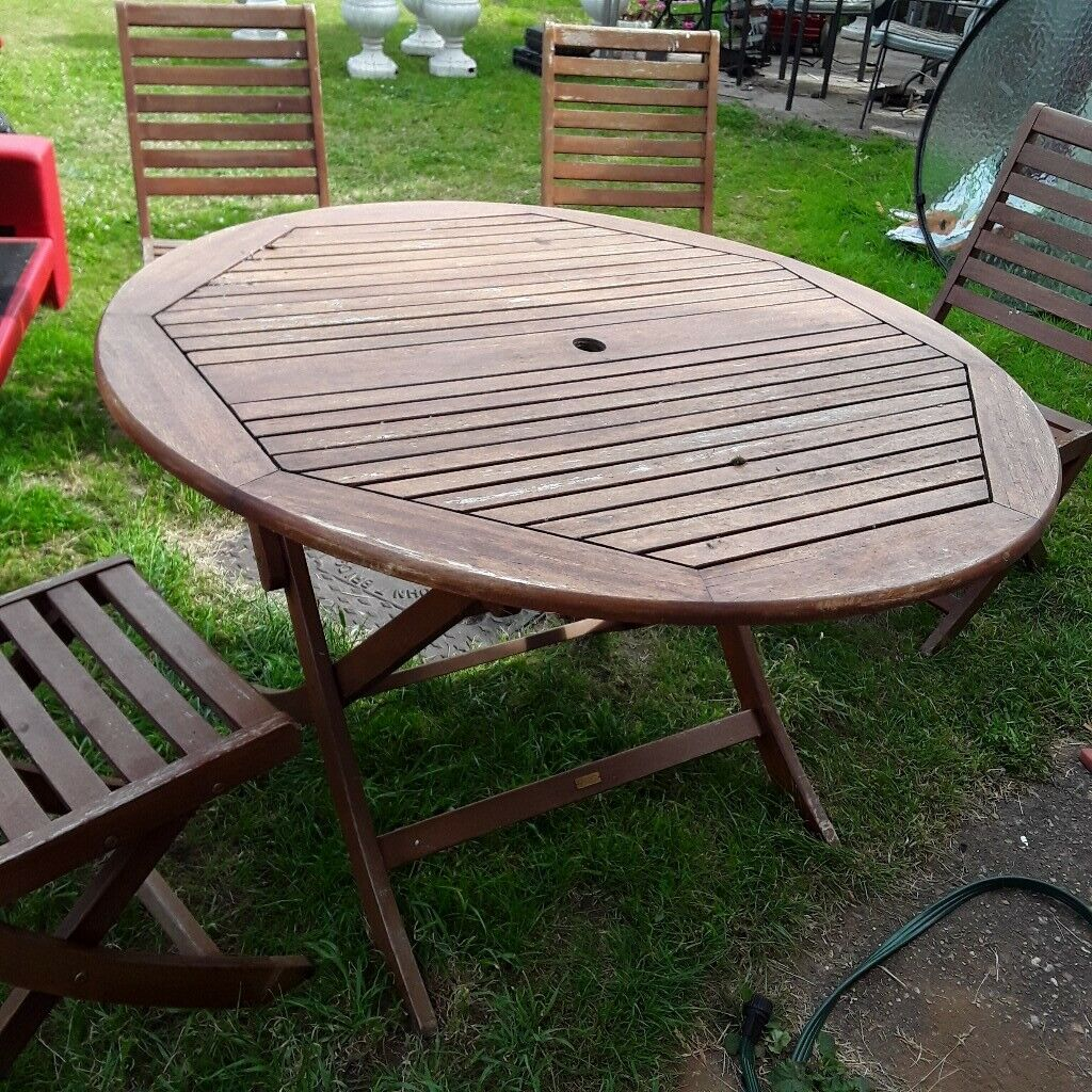 Teak garden table and 4 chairs   in Earley, Berkshire ...