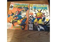 Marvel Wolverine / Gohst Rider comics #118 and #119 in near mint condition