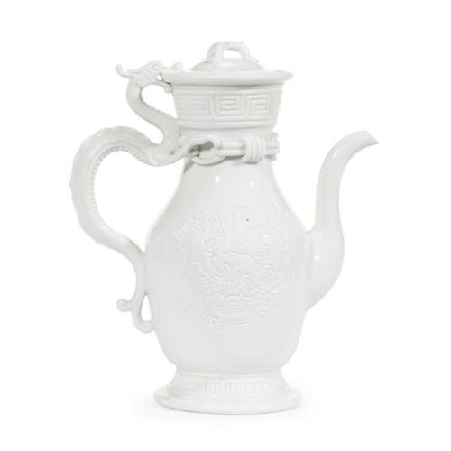 Japanese Meiji HIRADO 19th Century Lidded Dragon Teapot Signed 11 inches