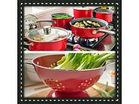 5 piece pan set + Free colander
