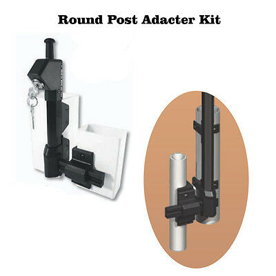 Gate Latch Pool Chain Link Round Post Adapter Kit  Auto Close Child Safety Code