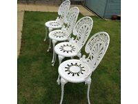x4 Ornate Aluminium Garden Chairs