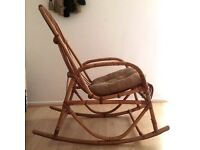 Vintage 1970s Wicker rocking chair