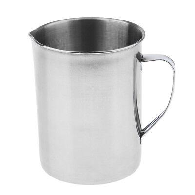 Stainless Steel 2000ml Laboratory Graduated Measuring Beaker Mug With Handle