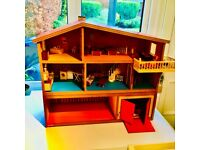 Lundby 1970s 3 story dolls house with furniture