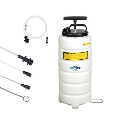 - FIT TOOL 15L Manual Handy Operated Oil Changer / Extractor of Engine &Brake Oil