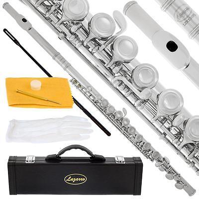 Lazarro® Nickel Silver Closed Hole C Flute w/ Split E for Students,Bands,Schools