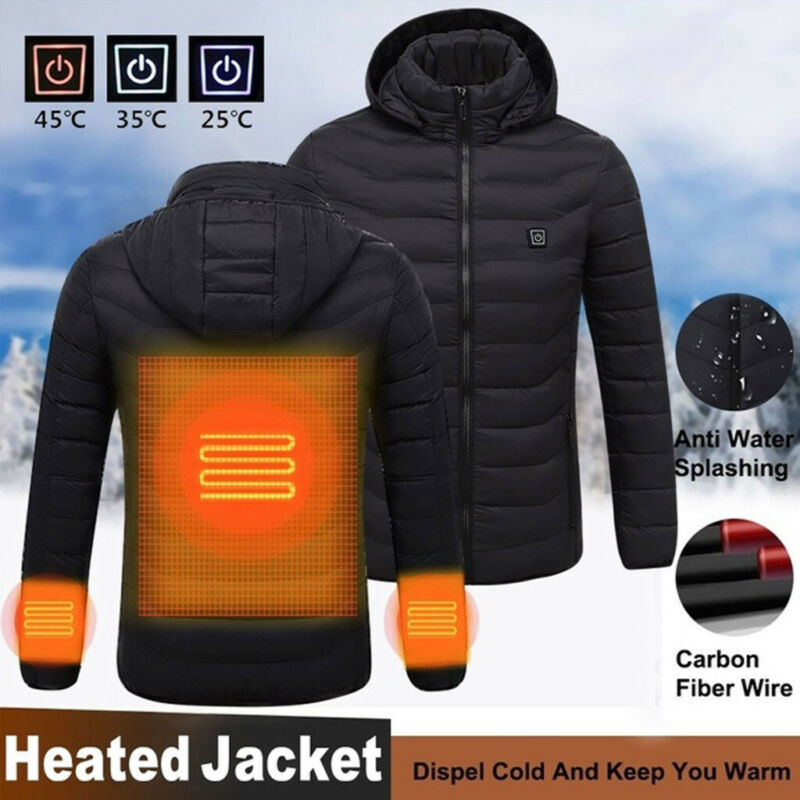 Winter Men's Smart USB Abdominal Back Electric Heating Warm