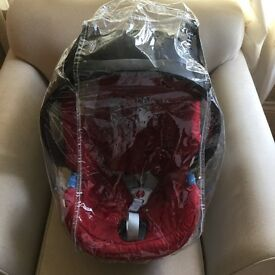 Car seat, rain cover and pushchair adaptors