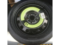 """Spacesaver Spare wheel for 10 plate VW Golf (MK6) with 16"""" 5 stud wheels."""