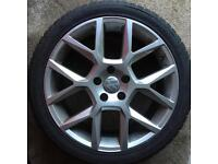 Alloys with winter tyres