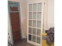 Solid wood glazed door