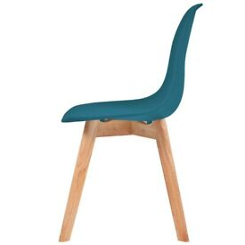 Dining Chairs 6 pcs Turquoise Plastic-244782-OOS