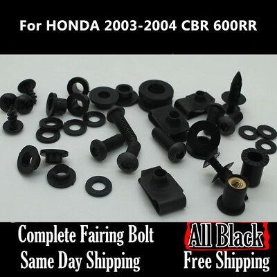 - NT Complete Black Fairing Bolt Body Screw for HONDA 2003 2004 CBR 600RR F5 Ta06