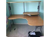 Left Hand Corner Desk, removable 'corner' Good Condition
