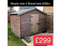 2.5m x 2.5m wooden garden shed