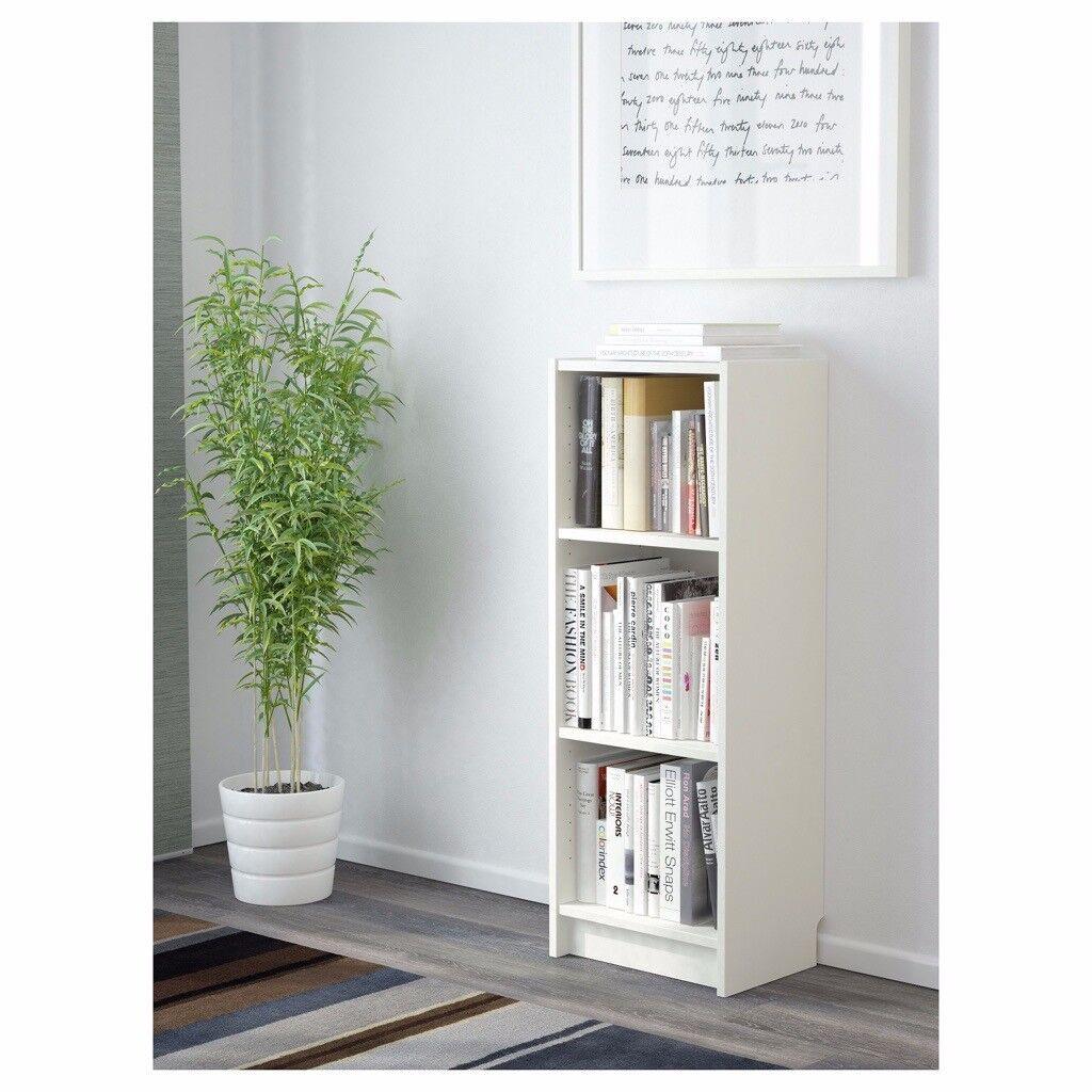 White Small Bookcase 40x28x106