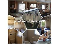 3 Bedroom Caravan for hire on st osyth beach
