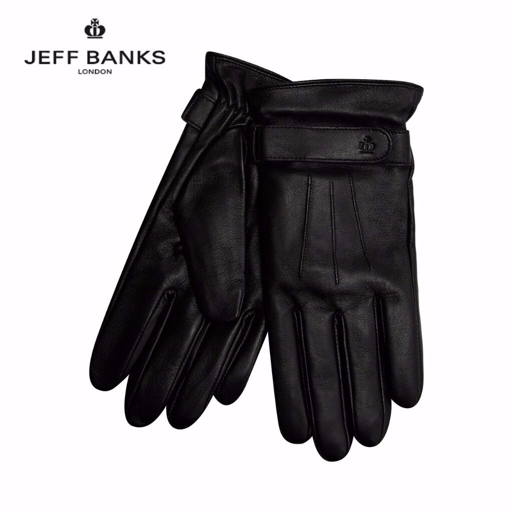 Mens black leather gloves debenhams - Jeff Banks Men S Leather Gloves Black Size M