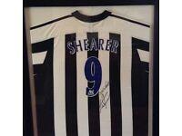 Alan Shearer signed football shirt