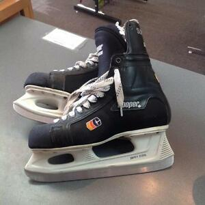 CooperTuff tongue men's hockey skates -Men's 9D- black (sku: Z15080)