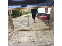Very Large Ornate Heavy Antique Mirror