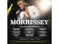 *FRONT ARENA* 2x MORRISSEY TICKETS ROYAL ALBERT HALL LONDON 2018